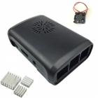 Case for Raspberry Pi + fan module + 3 pcs heat sink