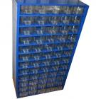 Кассетница на 60 ячеек металлическая (синяя) 555x305x155