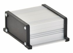 Корпус UNI-S-BOX-050-01BL (анод. алюминиевый, черный)