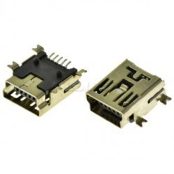 Разъем USB MINI 05-BF  SMD