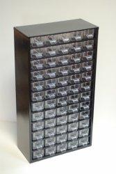 Кассетница на 60 ячеек металлическая (черная) 555x305x155