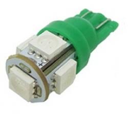 Лампа автомобильная LED-L194T10 [green]под цоколь